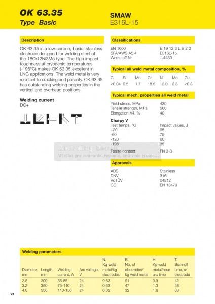 Elektróda ESAB OK 63.35 4323d79beb